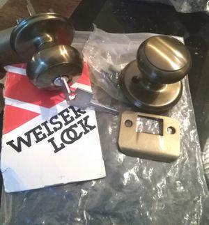 Weslock antique brass doorknobs for Sale in Katy, TX