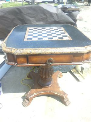 DROPPED PRICE PERIGOLD HERITAGE ANTIQUE PEDESTAL GAME TABLE *NEEDS RESTORATION*!!! for Sale in Irwindale, CA