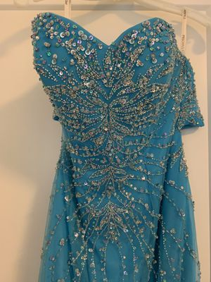 Teal beaded mermaid 🧜🏻♀️ homecoming/prom dress for Sale in Seattle, WA