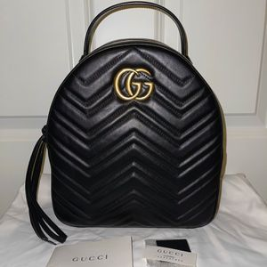 Gucci GG Marmont Quilted Backpack - Black Leather for Sale in Lynnwood, WA