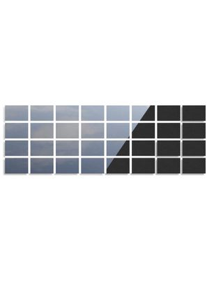 """Any Beauty 32-Pack Magnetic Garage Door Faux Windows(5 3/4"""" x 3 3/4), Black, Fake Decorations Window Panels for Garage Doors, No-Fade, Weather-Resist for Sale in Philadelphia, PA"""