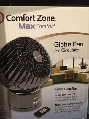Globe fan(oscillating feature) and REMOTE CONTROL for Sale in St. Charles, IL