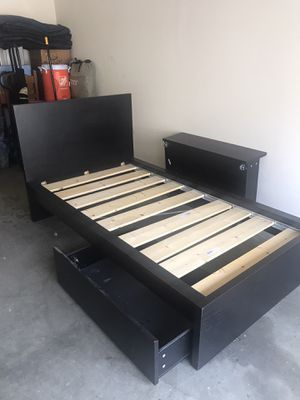 Twin XL bed frame with under bed drawers for Sale in Santa Rosa, CA