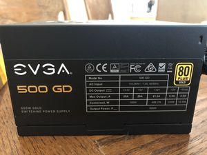 EVGA 500W GD Gold Power Supply for Sale in Roseville, CA