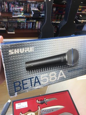 Shure Beta 58A vocal microphone for Sale in Los Angeles, CA