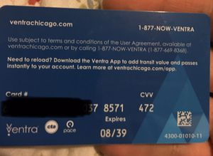 Ventra Cards for Sale in Chicago, IL