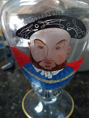 Antique Henry VIII Wine/ Whiskey Hand Painted Decanter for Sale in Orlando, FL