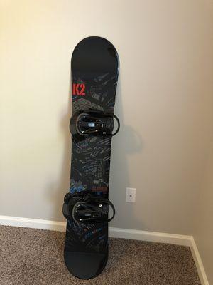 K2 snowboard 147, bindings and bag for Sale in Peachtree Corners, GA
