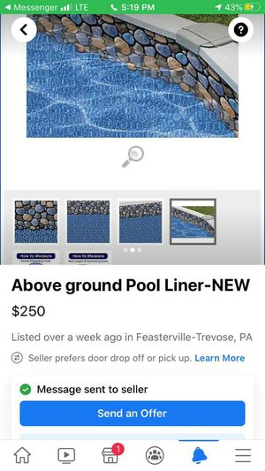 Pool liner 24 ft round 48 inches high for Sale in Philadelphia, PA