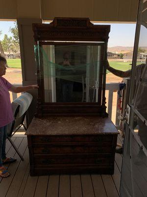 Marble Topped Antique Dresser for Sale in Hemet, CA