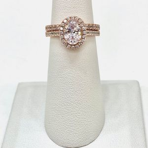 NEW! 1.25CT Rose Gold Sterling Silver S925 High Quality Lab Created Diamond Bridal Set, Please See Details for Sale in Redlands, CA