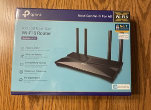 New Sealed TP Link AX1500 Next Gen WiFi 6 Router for Sale in Reading, PA