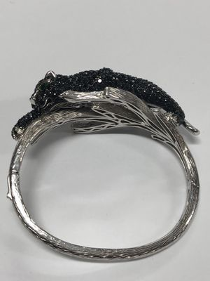 Dallas Prince Sterling Silver Gemstone Panther Bangle for Sale in Los Angeles, CA