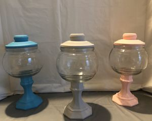 Teal, Grey & Pink Chalk Paint Jars Set for Sale in Riverton, UT