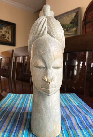 Handcarved 12 inch tall bust statue unique and rare for Sale in West Palm Beach, FL