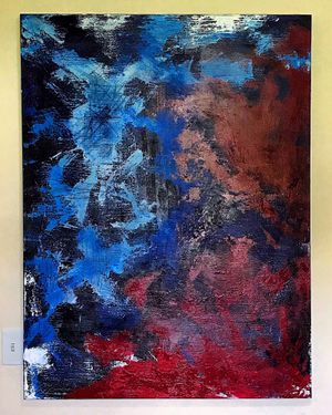 Abstract Art / Contemporary Art - Red, White, Blue, Black for Sale in Miami, FL