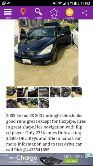 2003 Lexus ES 300 for Sale in Silver Spring, MD