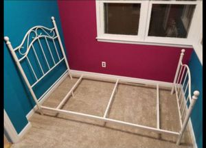 $40 White twin Bed Frame only for Sale in Omaha, NE