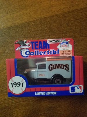 1991 Matchbox Team Collectibles Giants for Sale in Newburgh, IN