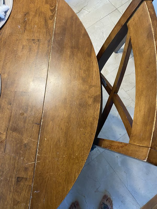Kitchen Table & Chairs (Drop Leaf)