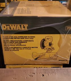 BRAND NEW, DEWALT 20-Volt MAX Cordless 7-1/4 in. Sliding Miter Saw (Tool-Only)NUEVO for Sale in Henderson,  NV