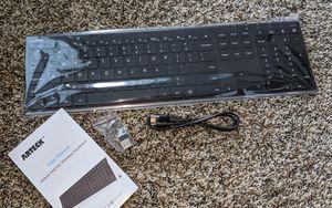Arteck 2.4G Wireless Keyboard Stainless Steel Ultra Slim Full Size Keyboard with Numeric Keypad for Sale in Murrieta, CA