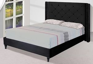 BLACK Queen Bed with Mattress Set FREE Delivery Drop off $449 for Sale in Dallas, TX