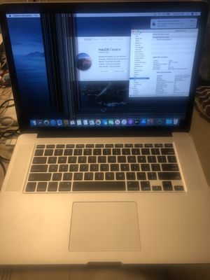 """❤️2015 Apple 15"""" MacBook Pro retina 2.8 intel i7💙16g mem 256 ssd storsge ❤️for repair or parts battery is no good and screen is broken 💕138 st Bronx for Sale in New York, NY"""