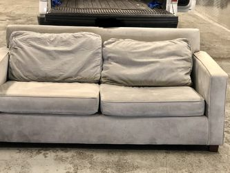 West Elm Henry velvet gray sofa FREE DELIVERY for Sale in Brooklyn,  NY