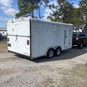 Trailer Enclosed 8 1/2 x 16 clean title for Sale in Stuart, FL