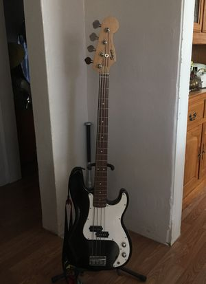 Squire P Bass + Stand + strap for Sale in Sanger, CA