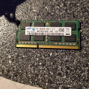 4 Gb Ddr3 Laptop Ram for Sale in Belmar, NJ