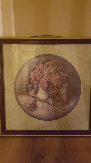 Flower picture frame for Sale in Reedley, CA