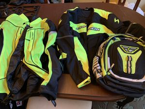 Motorcycle Gear - like new. 2 jackets backpack for Sale in Davenport, FL