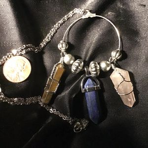 """23"""" Quartz Trio Necklace for Sale in Charleston, SC"""
