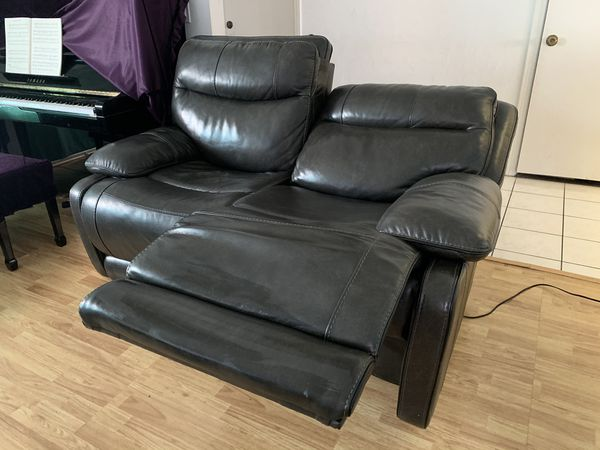 Leather Automatic Recliner Sofa And Love seat