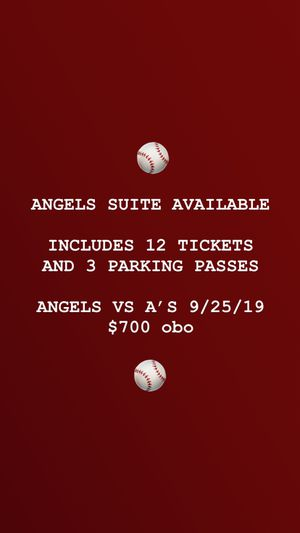 Angels vs A's 9/25/19 for Sale in Glendora, CA