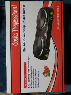 Cooks professional electric countertop double burner for Sale in Folsom, CA