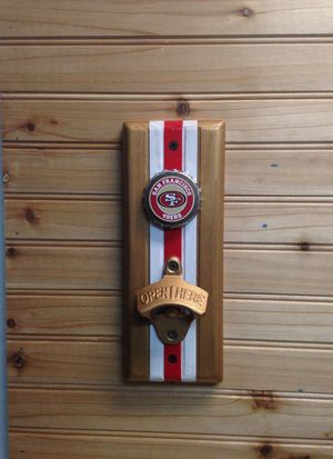 Forty-Niners wall mount bottle opener for Sale in Erie, PA