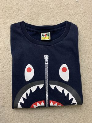 Bape navy blue shark tee - size L for Sale in San Diego, CA