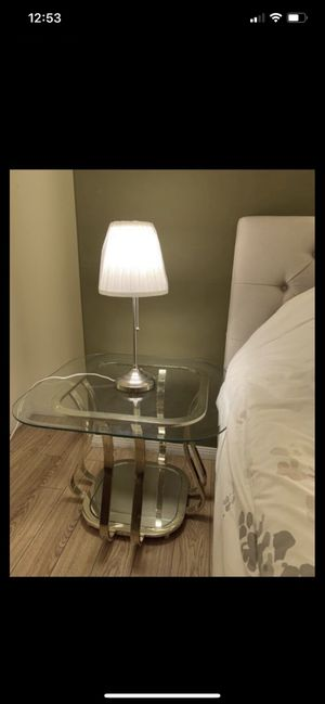 TWO (2) Bed Side Tables Glass for Sale in West Covina, CA