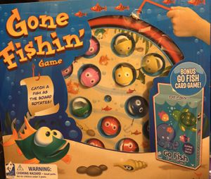 New Gone Fishin' Children's Toy Game & BONUS GO FISH CARD GAME for Sale in Visalia, CA
