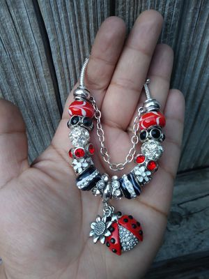 Lady bug w/a sunflower(Pandora style) charm bracelet for Sale in Spring, TX
