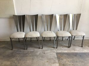 Stainless Steel Designer Chairs-One of a kind-Hand Made-5 for $150-Firm-Little Haiti Warehouse Liquidation-Bryce LeVan Cushing Liquidator for Sale in Miami Beach, FL