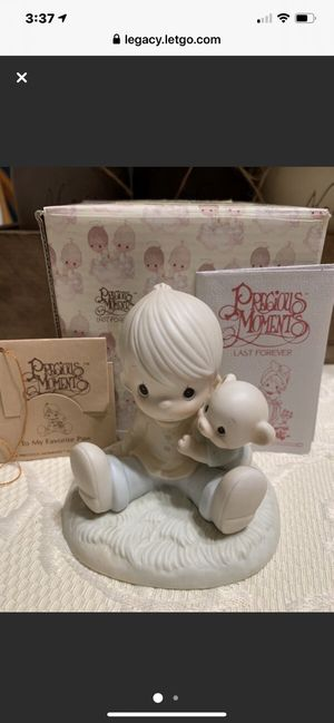 "Precious Moment Porcelain 1985 ""To My Favorite Paw"" Figurine for Sale in Danville, CA"