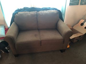 Brown pullout couch for Sale in Hemet, CA