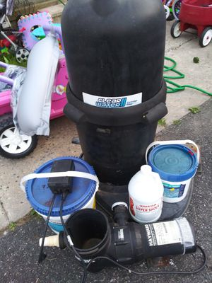 Pool pump with timer in great condition. Shock. Tablets. Must sell. Obo for Sale in Elkton, MD