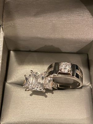 Stamped 925 Sterling Silver Matching Ring Set- Code SRL007 for Sale in Houston, TX