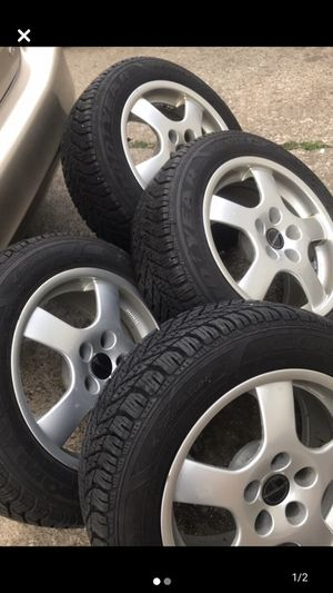 Rims and tires size is 205 55 16 for Sale in Cleveland, OH
