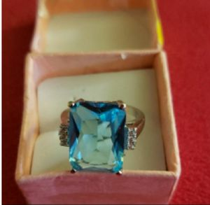 NEW HUGE 16×12MM SIZE 7 SILVER SWISS BLUE TOPAZ $85 for Sale in Federal Way, WA